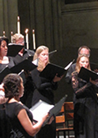 Combined choirs at Temple Emanu-El
