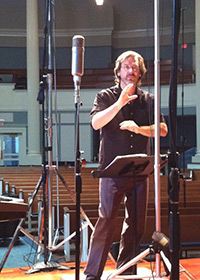 Eric Johnson conducting Psallite CD recording session