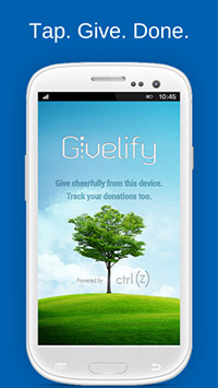 Givelify app on smartphone