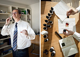 Fabio Luisi in his perfume workshop
