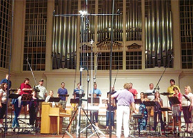 Cor Cantiamo recording session, College Church, Wheaton