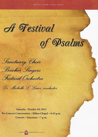Program cover for Lee Psalm premiere