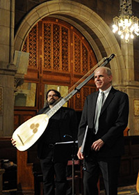 William Trakfa, with theorbo player